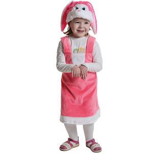 Карнавальный костюм  Зайка розовая Карнавалофф. Цвет: разноцветный