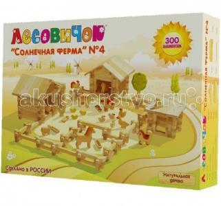 Конструктор  Солнечная ферма №4 (300 деталей) Лесовичок