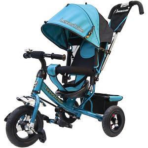 Трехколесный велосипед  с надувными шинами 10 и 8 Lexus Trike. Цвет: голубой