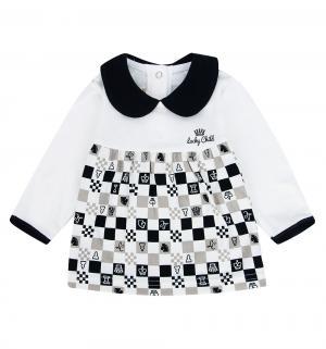 Джемпер  Шахматный турнир, цвет: молочный/бежевый Lucky Child