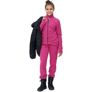Комплект : кофта и брюки Микита. Цвет: неоновый розовый