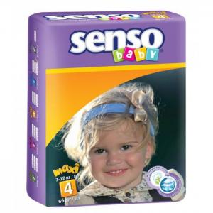 Подгузники макси (7-18 кг) 66 шт. Senso Baby