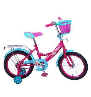 Велосипед  Barbie, цвет: розовый/бирюзовый Mustang