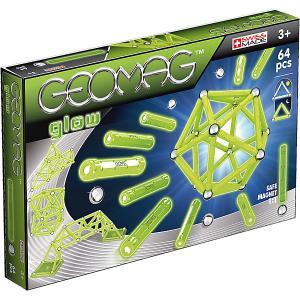 Магнитный конструктор  Glow, 64 детали Geomag