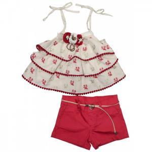 Комплект для девочки топ, шорты, пояс 3402 Baby Rose
