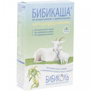 Каша  молочная Кукурузная на козьем молоке с 5 месяцев 200 г Бибиколь