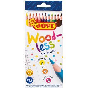 Цветные карандаши Jovi Wood-less, 12 цветов. Цвет: разноцветный