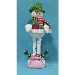 Снеговик с телескопическими ножками, 48 см, в полибеге MAG2000