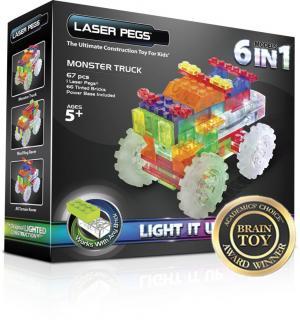 Светящийся конструктор  Гигантский грузовик 6 в 1 Laser Pegs