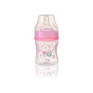 Бутылочка  антиколиковая, 120 мл, розовая BabyOno. Цвет: розовый