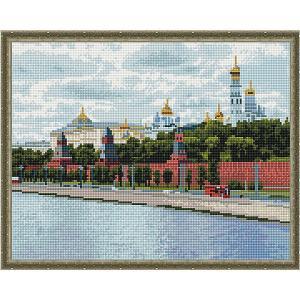 Алмазная мозаика  Москва, Кремль, 40х50 см Molly. Цвет: разноцветный