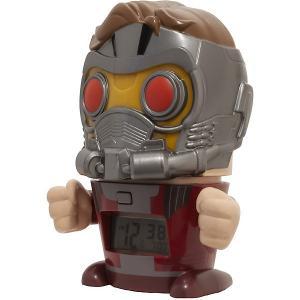 Будильник Kids Time BulbBotz Marvel «Звездный Лорд» минифигура Детское время. Цвет: красный