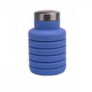 Бутылка для воды силиконовая складная с крышкой 500 мл Bradex