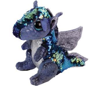 Мягкая игрушка  Дракон с пайетками 25 см TY