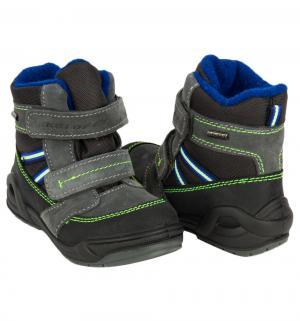 Ботинки , цвет: серый/салатовый Котофей