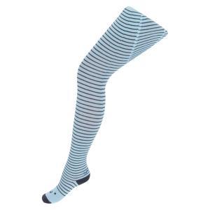 Колготки  Полоска, цвет: голубой/серый Crockid
