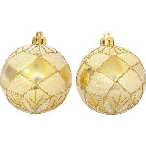 Набор елочных шаров Magic Land золотой, 6 штук Волшебная Страна. Цвет: разноцветный