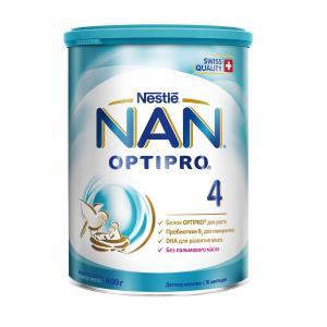 Детское молочко  Optipro 4 с 18 месяцев, 400 г Nan