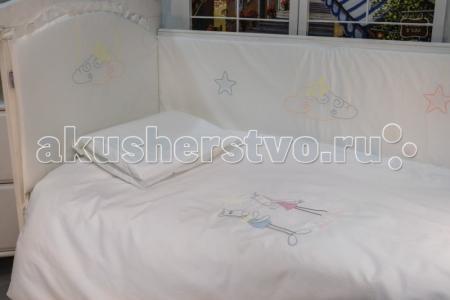Комплект в кроватку  Horses 120х60 (6 предметов) Makkaroni Kids