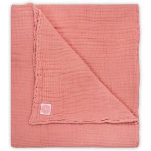 Муслиновое одеяло Jollein, 120х120 см (Коралловый) jollein. Цвет: красный