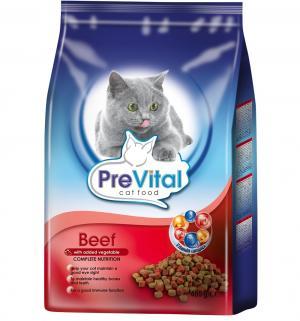 Сухой корм  для взрослых кошек, говядина/овощи, 400г Prevital