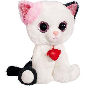 Мягкая игрушка  Глазастик кот Fancy. Цвет: белый