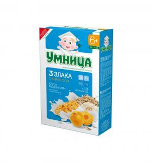 Каша  молочная 3 злака с абрикосом 6 месяцев 200 г 1 шт Умница