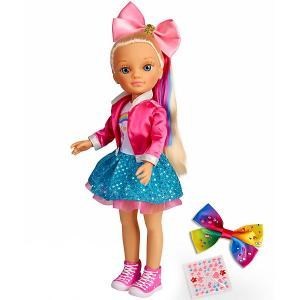Кукла  Разноцветные банты Нэнси, 42 см Famosa. Цвет: розовый