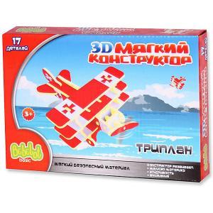 Мягкий 3D конструктор  Триплан, 17 деталей Bebelot