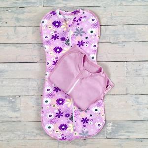 Комплект Ромашки, цвет: фиолетовый Супермамкет