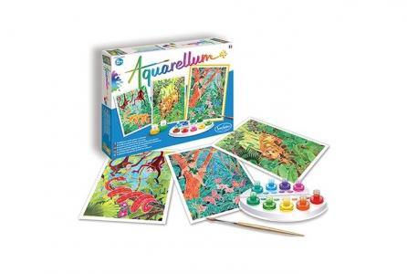 Раскраска  Акварельная Книга джунглей SentoSpherE