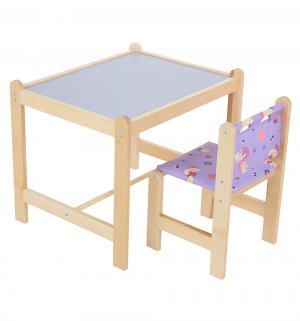 Набор мебели  Малыш-2, цвет: утки синие/синяя столешница Гном