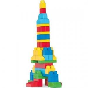 Конструктор  Большая строительная сумка классическая синяя, 80 дет. Mega Bloks