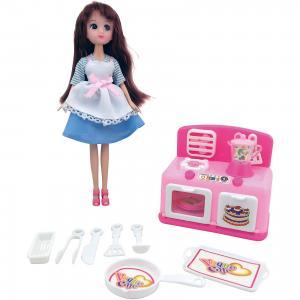 Игровой набор Кукла, плита, кухонные принадлежности, Krutti