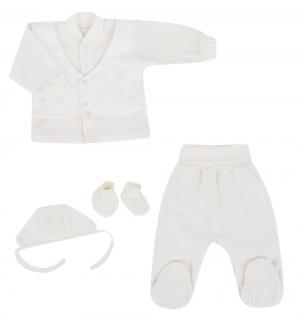 Комплект кофта/чепчик/брюки/пинетки  Мама Бэби, цвет: бежевый Осьминожка
