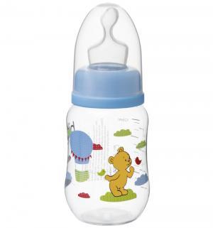 Бутылочка  Сезонная коллекция с ортодонической соской полипропилен 0 мес, 125 мл, цвет: голубой Bibi