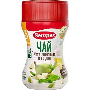 Детский чай  лимонная мята и груша, с 5 мес Semper