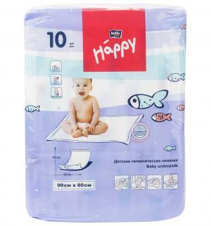 Пеленки  60х90 см, 10 шт Bella Baby Happy