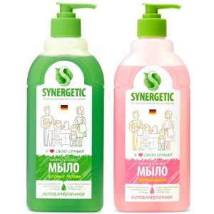Мыло жидкое биоразлагаемое для мытья рук и тела Луговые травы, 500 мл + Аромагия, Synergetic