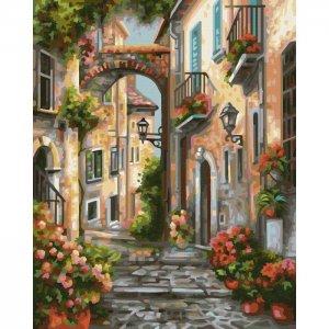 Картина по номерам Старинный переулок 30х24 см Schipper