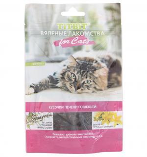 Лакомство  Вяленые лакомства для взрослых кошек Печень говяжья, 60г TitBit