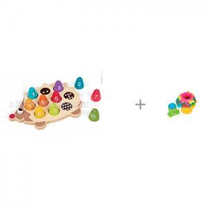 Сортер  с цифрами Ежик и Развивающая игрушка Maman Пирамидка 9055 Janod
