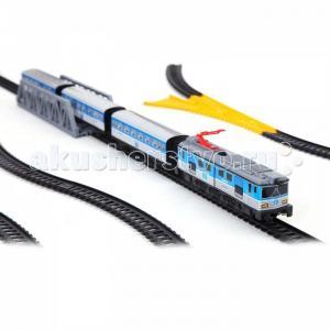 Железная дорога 1 локомотив 3 вагона светофор мост стрелка перевода 690 Pequetren