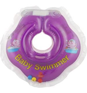 Круг  полуцвет+погремушка, цвет: фиолетовый Baby Swimmer