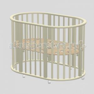 Кроватка-трансформер  Оливия овальная 3 в 1 Ведрусс