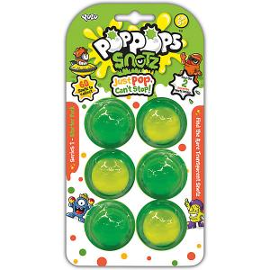 Игровой набор Yulu PopPops Snotz, 6 шт BANDAI. Цвет: зеленый