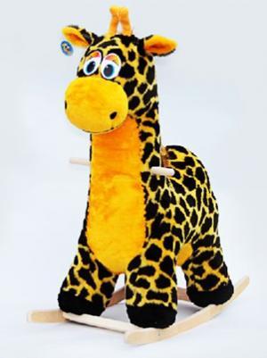 Качалка  Жираф, цвет: черный/оранжевый Тутси
