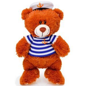 Мягкая игрушка  Медвежонок моряк 50 см цвет: коричневый СмолТойс