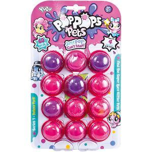 Игровой набор Yulu PopPops Pets, 12 шт BANDAI. Цвет: розовый