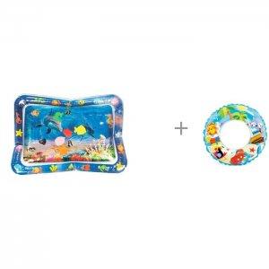 Коврик  надувной для ванны Ocean и круг Intex Морской мир 61 см Uviton